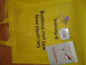 FREE shopping bag,trolley coin+mints from Manchester metrolink