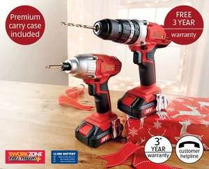 Aldi Nationwide - 18V Li-Ion Drill and Driver Kit £99.99