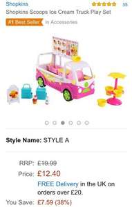 Shopkins ice cream truck - £12.40 (Prime) £17.15 (non Prime) @ Amazon