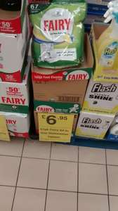 Fairy all in one dishwasher tablets, 67 for only £6.95 at Farmfoods.