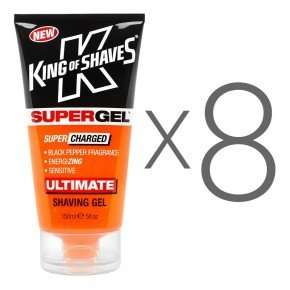 SuperGel Shaving Gel with Black Pepper (8) Multi-Buy Pack (includes free UK delivery) - Shave.com £18.99