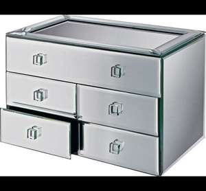 Bevelled Five Drawer Mirrored Jewellery Box Now £19.99 @ Argos