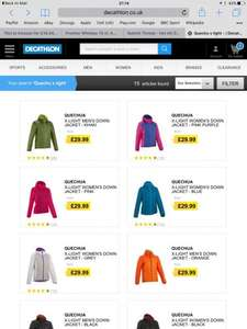 Quechua X-Light men's women's Down Jackets (duck feathers) only £29.99 @ decathlon sizes s-3xl 7 or 8 colourways