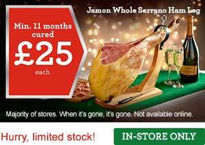 Serrano Ham £25 Morrisons IN STORE ONLY