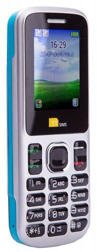 TTsims - Dual Sim TT130 Mobile Phone - Camera - Bluetooth - Cheapest Twin 2 Sim Phone - Blue £9.79 @ AMAZON