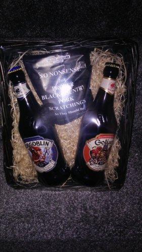 Hobgoblin beer & pork scratchings hamper £4.99 in store Home Bargains