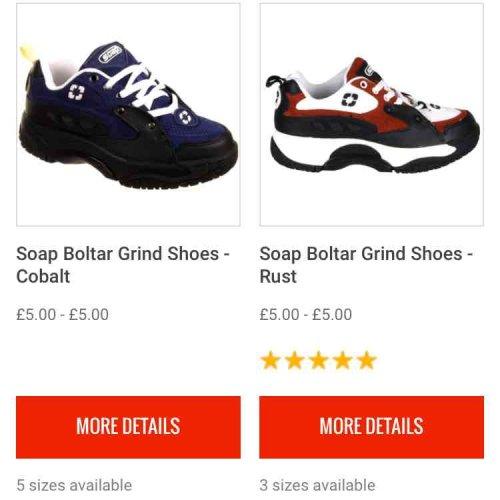 Soap Shoes @ SkateHut for £5!!!!
