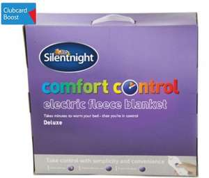Silentnight Fleece Electric Blanket at Tesco Direct: £30 for double size (reduced from £40)