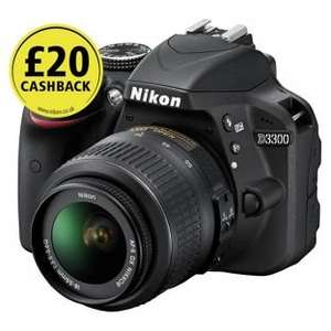 Nikon D3300 DSLR Camera With 18-55mm Lens. £279.99 @ Argos