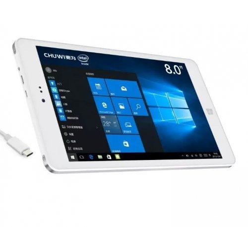 Chuwi Hi8 Pro - 8 inch tablet - Intel Cherry Trail X5-Z8300 (Quad Core), 2GB Ram, 32GB , 1920x1200, USB3 (Type C), HDMI Out, Windows 10 - £62.64 @ GearBest