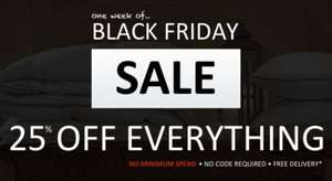 Black Friday Sale - 25% Off EVERYTHING at My Duvet & Pillow Warehouse