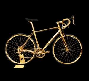 Bored of your Brompton? Then buy this 24 carat gold racing bike. I did! - £250,000 @ Firebox