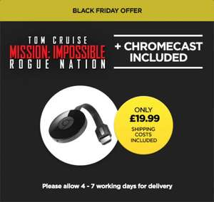 Chromecast 2 + Mission Impossible: Rogue Nation + £20 Play Store credit.... £19.99 @ wuaki.tv (of course)