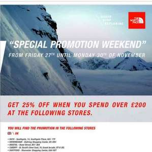 The North Face Black Friday promo