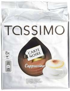 TASSIMO Carte Noire Cappuccino coffee 16 discs, 8 servings (Pack of 5, Total 80 discs/pods, 40 servings), £15(prime) or £19.75 non prime from amazon