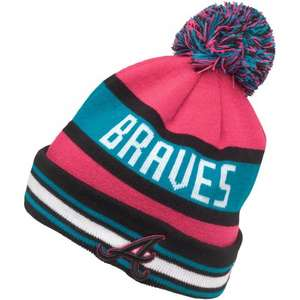 New Era Atlanta Braves Beanie Hat £2.99 + £4.49 p&p was £21.99 @ M&M Direct