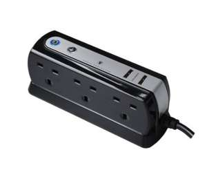Masterplug USB Charging Surge Protected 2 m Extension Lead Power Block with 6 Sockets £14.99 @ Amazon