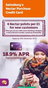 Sainsbury's Nectar Purchase Credit Card