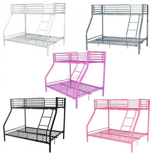 FoxHunter Metal Triple Children Sleeper Bunk Bed Frame (No Mattress) £109.90 delivered at eBay / mantradingltd
