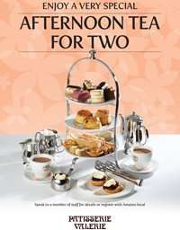 Amazon Local deal - Afternoon Tea for Two at Patisserie Valerie Nationwide - £19