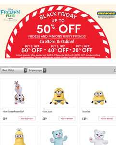 Build a Bear Black Friday Deal - buy three frozen or minion bears and save 50%