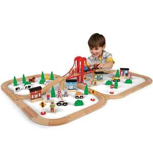 81 Piece Mega Value Wooden Train Set (was £49.99) Now £24.99 at Toys R US