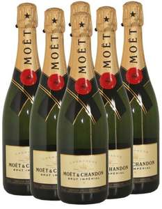 6 Bottles of Moet Champagne 75cl - £17.25 each (£103.50 total) @ Tesco