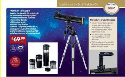 Premium Telescope  £69.99 @ ALDI Instore, Thursday 26.11.2015