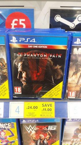 Metal gear V Phantom pain ps4/xbox one £24 @ Tesco instore