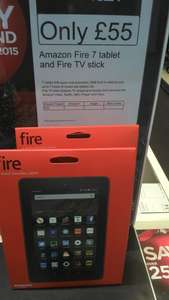 "Amazon Fire 7"" tablet and Fire TV stick £55 for both at Dixons Travel"