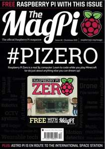 Raspberry Pi Zero with The MagPi Issue 40 - £5.99
