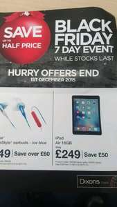 ipad air 16gb wifi only - £249 @ Dixons Travel