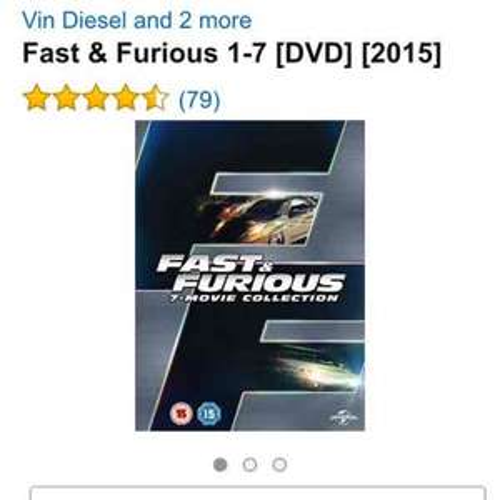 fast and furious box set DVD £16 (Prime) / £17.99 (non Prime) @ Amazon
