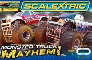 Scalextric Monster Truck Mayhem Set, Black Friday, free postage £64.99 @ Scalextric