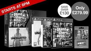 PS4 500GB with Knack, Uncharted, GTA V and NOW TV £279.99 @ Game