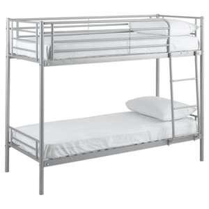 Mika Shorty Bunk Bed Frame, Silver (Small Single) £56.95 Delivered @ Tesco Direct