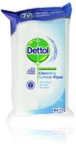 Dettol Antibacterial Cleansing Surface Wipes Family Pack - Large, Pack of 3 (Total 252 Wipes) £2.80 @ Amazon S&S (Use Code SAVE30VC12)