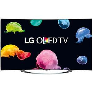 "LG 65EC970V Curved 4K Ultra HD OLED 3D Smart TV, 65"" with Freeview HD, Built-In Webcam, Harman Kardon Audio & 2x 3D Glasses  £2999.00 @ John Lewis"