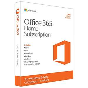 Microsoft Office 365 Home Premium £39.98 / Home and Student 2016 £59.98 @ John Lewis