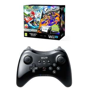 Nintendo Wii U 32GB Mario Kart 8 and Splatoon Premium Pack - Black with Nintendo Wii U Pro Controller - Black @ amazon