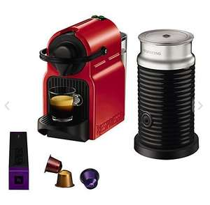 Nespresso Inissia Coffee Machine with Aeroccino by KRUPS in Red £79.95 @ John Lewis
