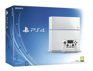 Playstation 4 Glacier White Console 500GB [C-Chassis Model] & Watch Dogs - £209.92 - Gamestop.ie