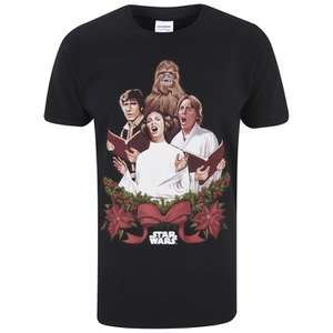 Star Wars Xmas Men's Tees, £9.99 Each Or 2 For £16.99 @ The Hut