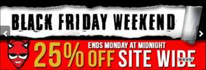 Totally Wicked 25% off across the whole site Black Friday Weekend