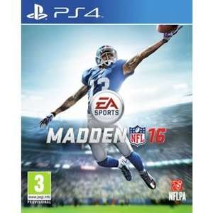 Madden NFL 16 (PS4) Add to trolley -> £25.50 @ Argos