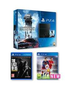Playstation 4 500Gb Console Star Wars Battlefront Bundle with The Last of Us and FIFA 16 £299.99 (Very VIP)
