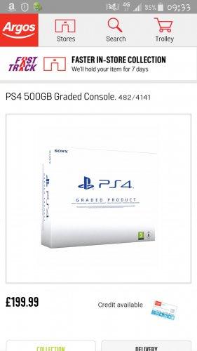 ps4 500 gb console £199 @ Argos