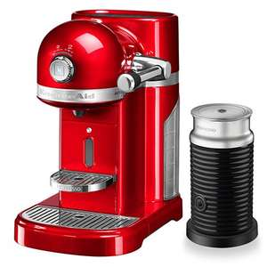 Kitchen aid nespresso machine with aerochino £229, £199 without, select colours. Harts of stur