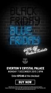 Black Friday 40% off Premier League Tickets: Everton vs Crystal Palace