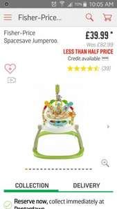 Fisher Price Space Saver Jumperoo ARGOS better than half price £39.99